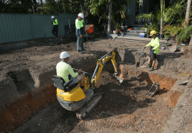 Landsaping excavate