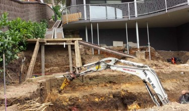 Under house excavvations