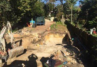 Landscape excavations