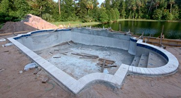 backyard swimming pool excavtion